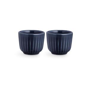Sada 2 tmavě modrých porcelánových misek na vajíčka Kähler Design Hammershoi, ⌀ 5 cm