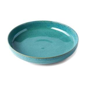 Tyrkysově modrý keramický hluboký talíř MIJ Peacock, ø 20 cm