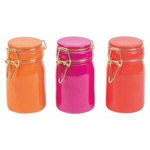Sada 3 barevných skleněných dóz Villa d'Este Colore