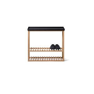 Botník/úložný stolek s černou deskou z dubového dřeva Wireworks Hello Storage