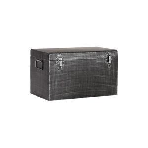 Černý kovový úložný box LABEL51, délka 50cm