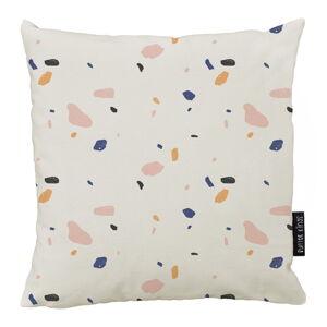 Béžový bavlněný dekorativní polštář Butter Kings Terrazzo Shapes,50x50cm