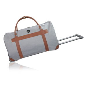 Šedá cestovní taška na kolečkách GENTLEMAN FARMER Oslo, 40 l