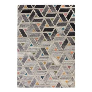 Šedý vlněný koberec Flair Rugs River, 120 x 170 cm