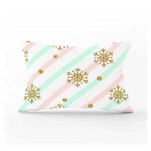 Vánoční povlak na polštář Minimalist Cushion Covers Gold Snowflake,35x55cm