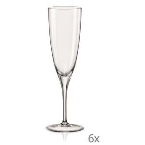 Sada 6 sklenic na šampaňské Crystalex Kate,220ml