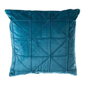 Petrolejově modrý polštář JAHU Amy, 45 x 45 cm