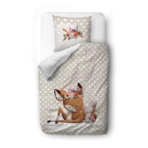 Bavlněné dětské povlečení Mr. Little Fox Doe and Her Friends, 100 x 130 cm
