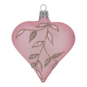 Sada 3 světle růžových vánočních ozdob Ego Dekor Fancy Christmas