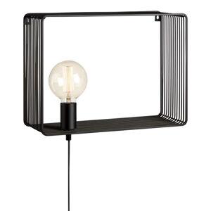 Černé nástěnné svítidlo Markslöjd Shelf Wall Black