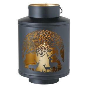 Černá železná lucerna Boltze Deer, ø 21 cm