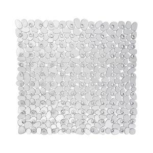 Transparentní protiskluzová koupelnová podložka Wenko Drop, 54x54cm
