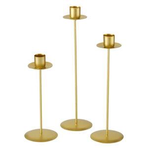 Sada 3 svícnů ve zlaté barvě Boltze Kimo