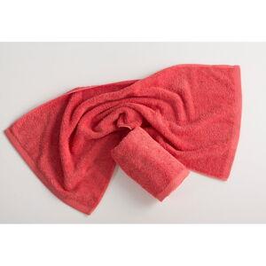 Červenorůžový bavlněný ručník El Delfin Lisa Coral, 30 x 50 cm