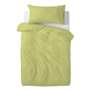 Zelené dětské bavlněné povlečení Happy Friday Basic, 115x145cm