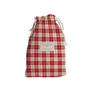 Cestovní vak s příměsí lnu Linen Couture Red Square, délka 44 cm