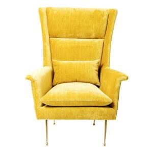 Žluté křeslo Kare Design Vegas Forever