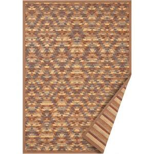 Hnědý oboustranný koberec Narma Vergi, 70 x 140 cm