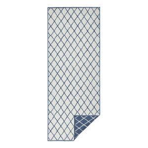 Modro-krémový venkovní koberec Bougari Malaga, 80x250 cm