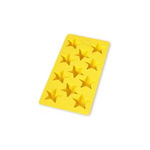 Žlutá silikonová forma na led Lékué Star, 11 kostek