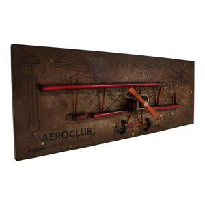 Plastická nástěnná dekorace Antic Line Avion, 160 x 60,5 cm