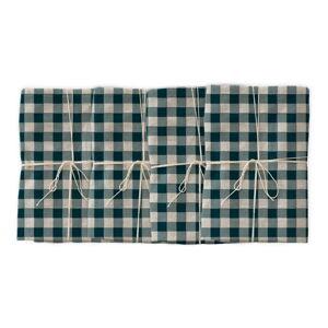 Sada 4 látkových ubrousků s příměsí lnu Linen Couture Turquoise Vichy, 43 x 43 cm