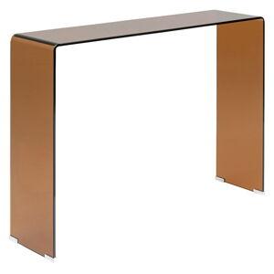 Skleněný konzolový stolek Kare Design Visible Amber, šířka 120cm