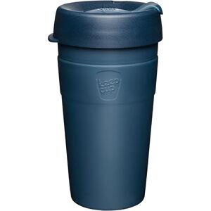 Tmavě modrý cestovní hrnek s víčkem KeepCup Spruce Thermal,454ml