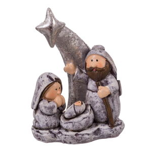 Betlémská vánoční dekorace ve stříbrné barvě Unimasa