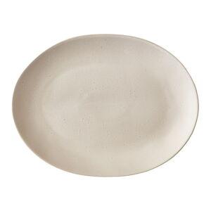 Béžový kameninový servírovací talíř Bitz Mensa,30x22,5 cm