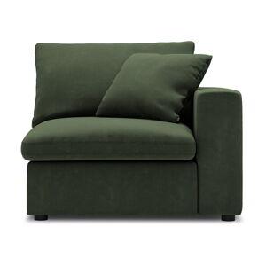 Tmavě zelená rohová část modulární pohovky Windsor & Co Sofas Galaxy, pravý roh
