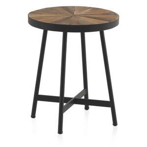 Odkládací stolek s černou železnou konstrukcí Geese Sunrays