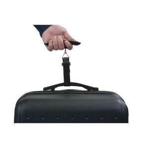 Béžová elektronická váha pro zvážení kufru Bluestar