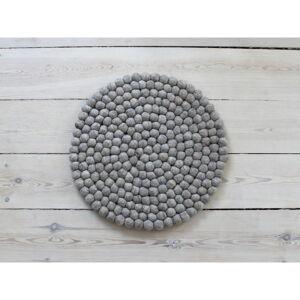 Pískově hnědý kuličkový vlněný podsedák Wooldot Ball Chair Pad, ⌀ 39 cm