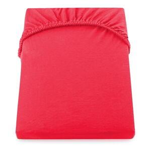 Červené elastické prostěradlo DecoKing Nephrite Red, 220/240 x 220 cm