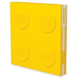 Žlutý čtvercový zápisník s gelovým perem LEGO®, 15,9 x 15,9 cm
