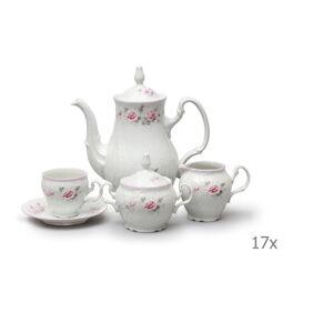 Porcelánový sada na kávu s růžičkami Thun Bernadotte