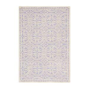 Vlněný koberec Safavieh Marina Light Purple, 243 x 152 cm