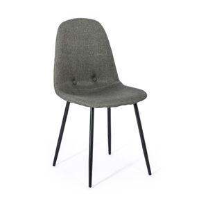 Sada 2 tmavě šedých jídelních židlí loomi.design Lissy