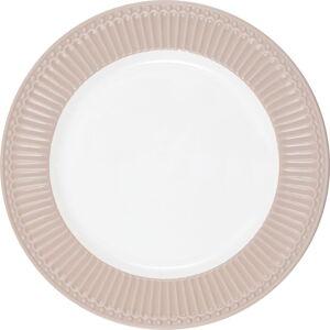 Bílo-růžový keramický talíř Green Gate Alice,ø26,5cm