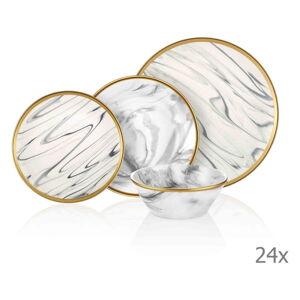24dílný set porcelánového nádobí Mia Lucid Grey
