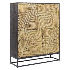Komoda zexotického dřeva Kare Design Circulo, výška 150cm