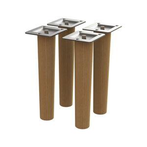 Sada 4 náhradních nožiček z dubového dřeva Tenzo