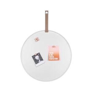 Bílá kovová nástěnka PT LIVING Perky, ø50cm