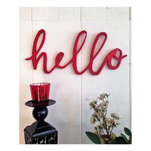 Červená nástěnná dekorace Hello