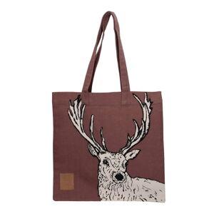 Hnědá bavlněná plátěná taška Creative Tops Wild Stag