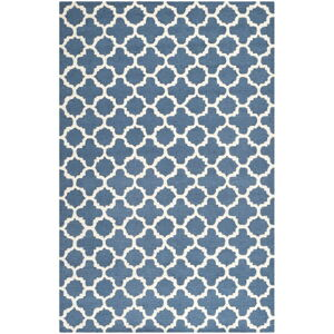Modrý vlněný koberec Safavieh Bessa, 243 x 152 cm