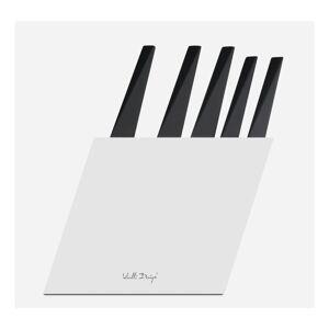 Sada 5 nožů s bílým stojanem Vialli Design Volo