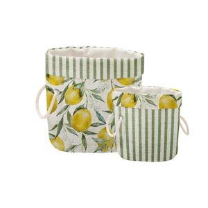 Sada 2 dekorativních košů Linen Couture Lemons And Stripes