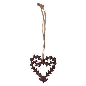 Závěsná dekorace ve tvaru srdce Antic Line Ceramic